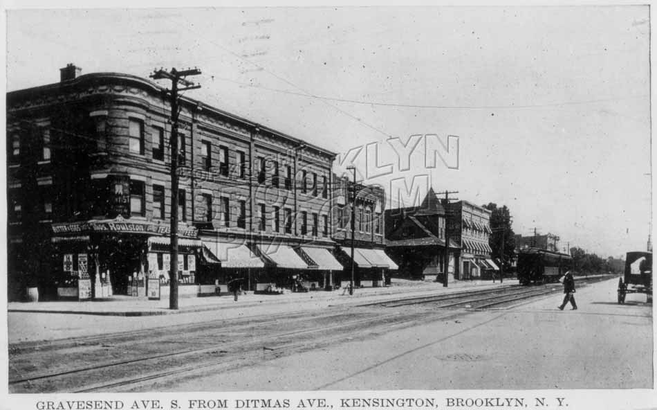 McDonald Avenue looking south from Ditmas Avenue, c.1912 Old Vintage Photos and Images