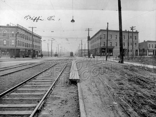 McDonald Avenue looking south toward Church Avenue, 1929 Old Vintage Photos and Images