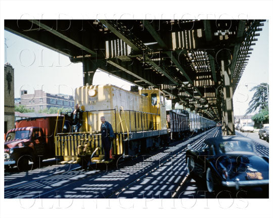 McDonald N train of Quentin Road Brooklyn, NYC 1961 Old Vintage Photos and Images