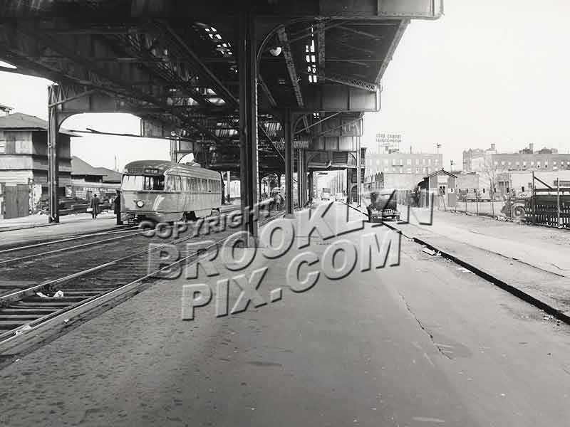 McDonald-Vanderbilt Line trolley bound for Coney Island seen at Kensington Jct., ca. 1945 Old Vintage Photos and Images