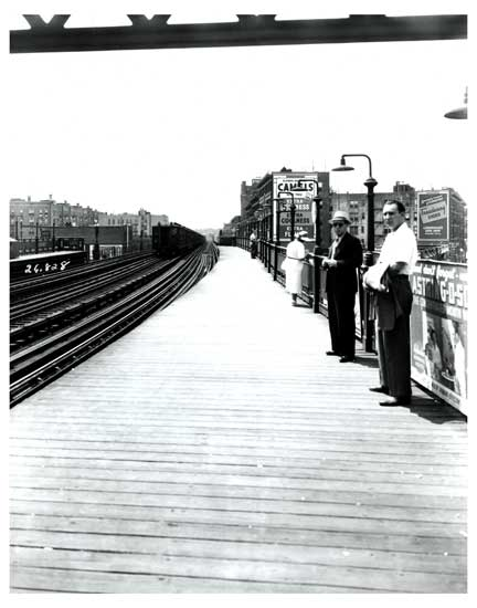 Men Waiting on Train Platform Bronx Old Vintage Photos and Images