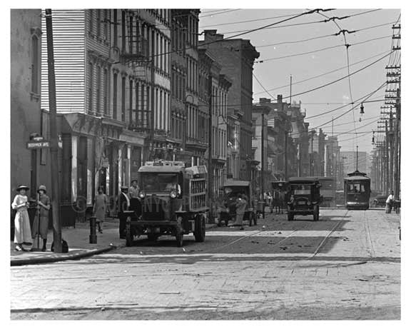 Meserole Street & Bushwick Ave - Williamsburg - Brooklyn , NY  1922 II Old Vintage Photos and Images