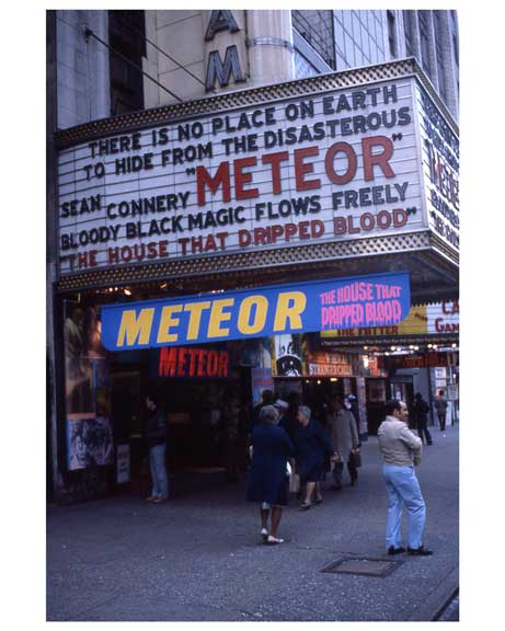 """Meteor"" with Sean Connery - Theater District NYC 1970s I Old Vintage Photos and Images"