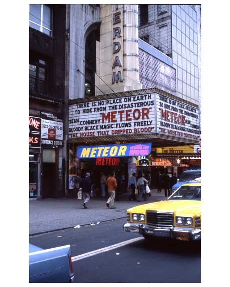 """Meteor"" with Sean Connery - Theater District NYC 1970s II Old Vintage Photos and Images"
