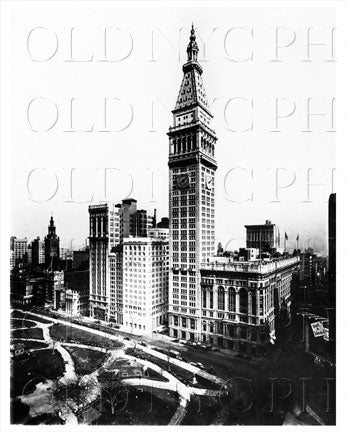 Metropolitan Life Insurance Bldg & Madison Square Garden Manhattan NYC Old Vintage Photos and Images