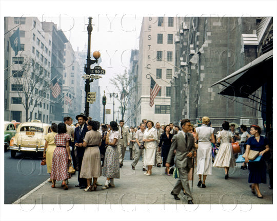 Midtown Manhattan East 50th Street Old Vintage Photos and Images