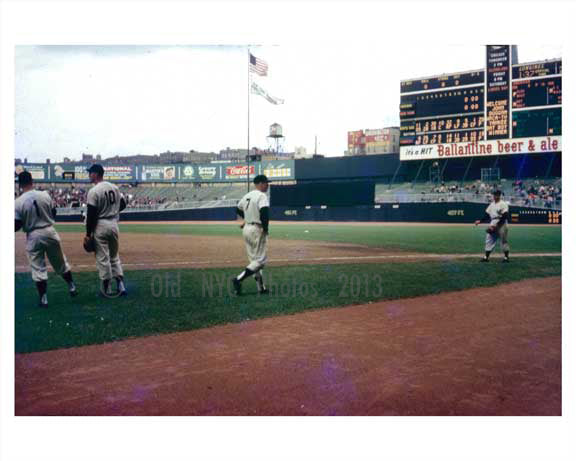 Mikey Mantle at Yankee Stadium  1958