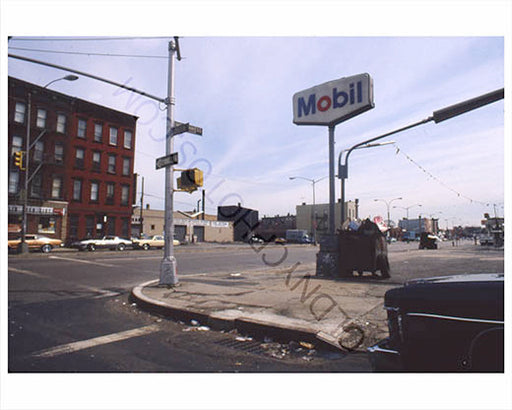Mobil Gas station Green Street Greenpoint Brooklyn
