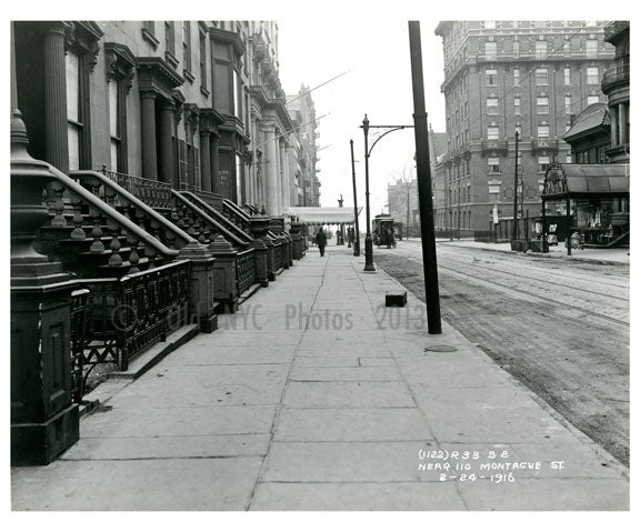 Montague Street 1916 - Brooklyn Heights - Brooklyn NY Old Vintage Photos and Images
