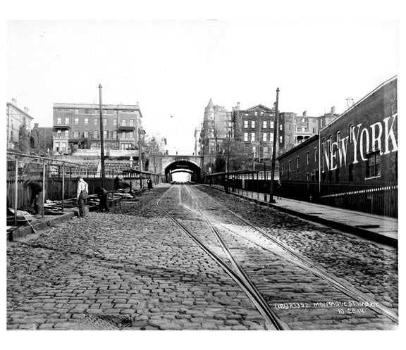 Montague Viaduct 1914 Brooklyn Heights - Brooklyn NY Old Vintage Photos and Images