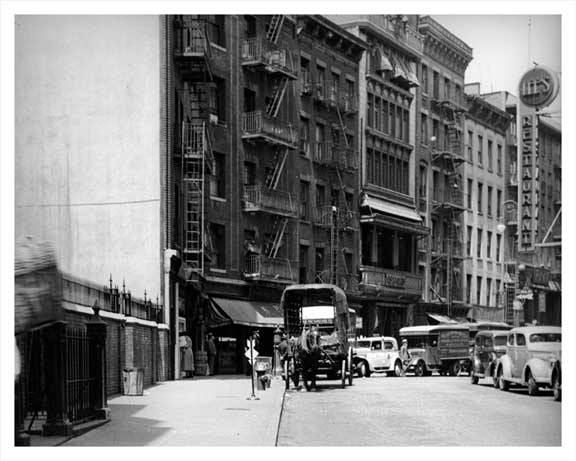 Mott Street Looking North at Pell Street 1937 Old Vintage Photos and Images