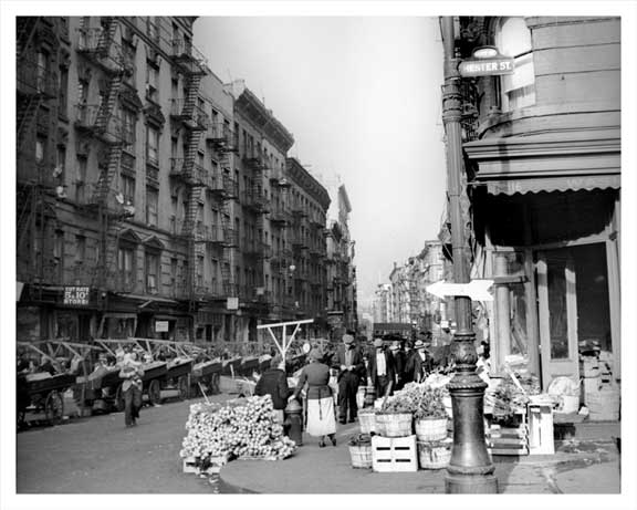 Mott Street north from Hester 1939 Old Vintage Photos and Images