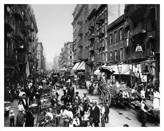 Mulberry Street Looking toward Canal 1904 Old Vintage Photos and Images