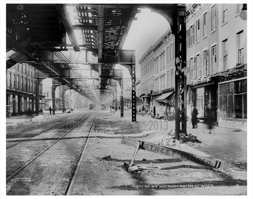 Myrtle Ave between Nostrand & Sanford St. Old Vintage Photos and Images