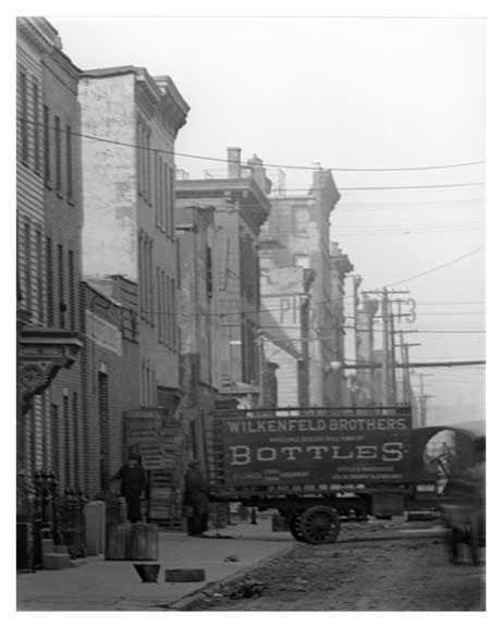 N 7th Street at Roebling  - Williamsburg - Brooklyn, NY  1921 B Old Vintage Photos and Images