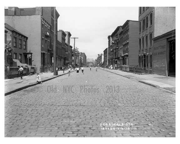 N 7th Street - Hay Market on far right - Williamsburg - Brooklyn, NY  1921 Old Vintage Photos and Images