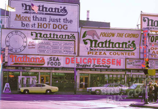 Nathan's Famous Coney Island NY Old Vintage Photos and Images