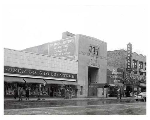 National City Bank Flushing Queens 1950s Old Vintage Photos and Images