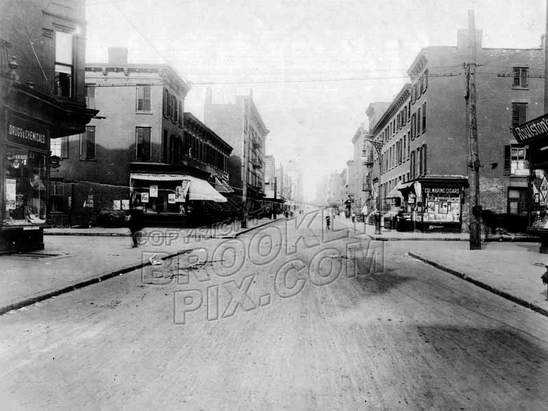 Nevins Street looking north to Wyckoff Street, 1918