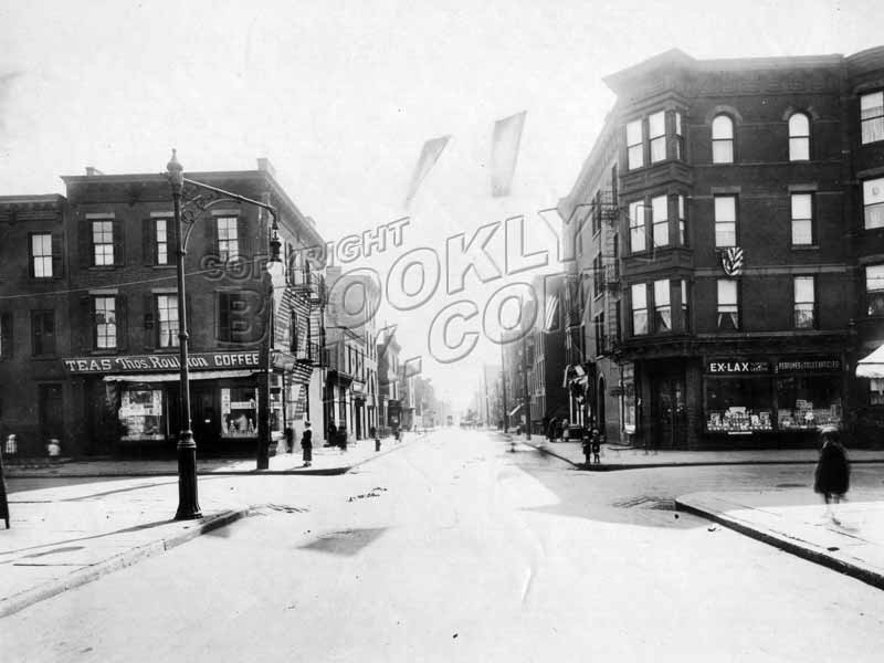 Nevins Street looking south to Wyckoff Street, 1918