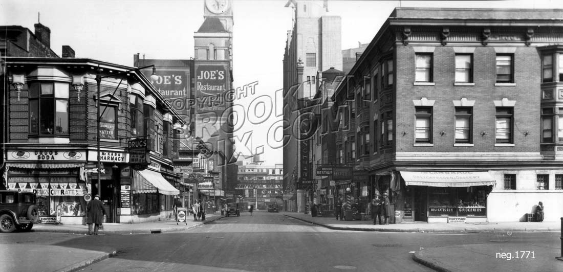 Nevins Street north to Schermerhorn Street, 1929 Old Vintage Photos and Images