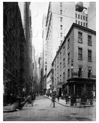 New St & Beaver St Financial District Manhattan NYC Old Vintage Photos and Images