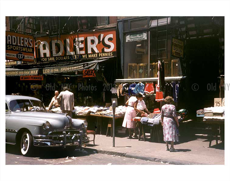 New York  1950's  Adler's Store front Old Vintage Photos and Images