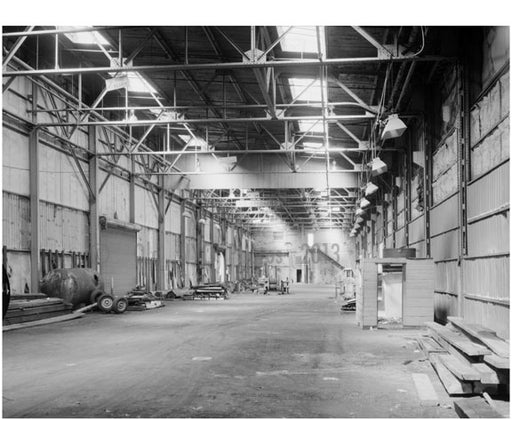 New York Barge Canal, Gowanus  Bay Terminal Pier warm room interior Old Vintage Photos and Images