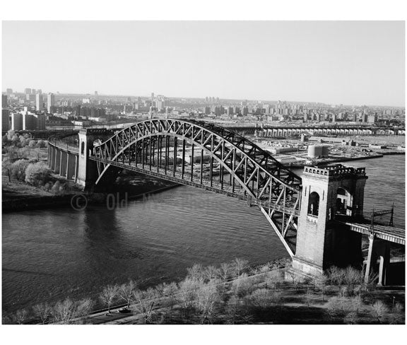 New York connecting RR - Hell Gate Bridge, Queens NY Old Vintage Photos and Images
