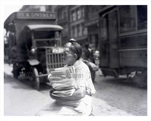 "News paper ""boy"" in the Lower East Side 1915 NYC Old Vintage Photos and Images"