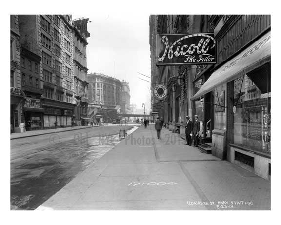 Nicoll the Tailor' Broadway - Midtown Manhattan - NY 1914 Old Vintage Photos and Images