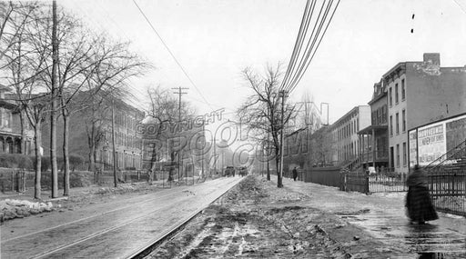 Ninth Street looking southeast to Fourth Avenue (Gowanus), 1918 A Old Vintage Photos and Images