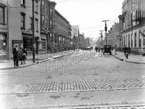 Noble Street from Manhattan Avenue, 1928 Old Vintage Photos and Images