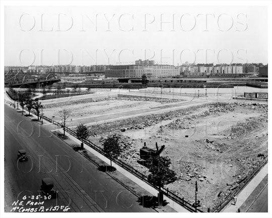 North East from McCombs Place & 151th Street Bronx NYC 1930 Old Vintage Photos and Images