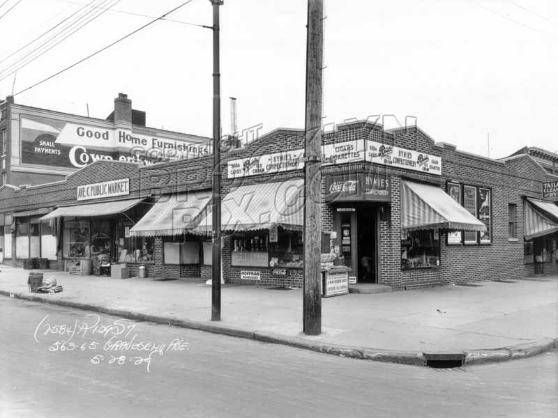 Northeast corner of Avenue C and McDonald Avenue, 1929 Old Vintage Photos and Images