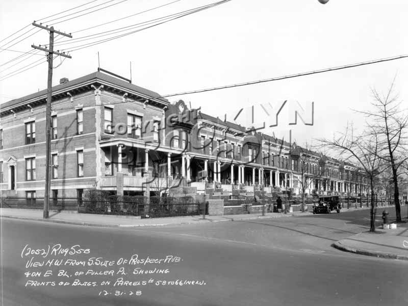 Northeast corner of Fuller Place and Prospect Avenue, 1928 Old Vintage Photos and Images