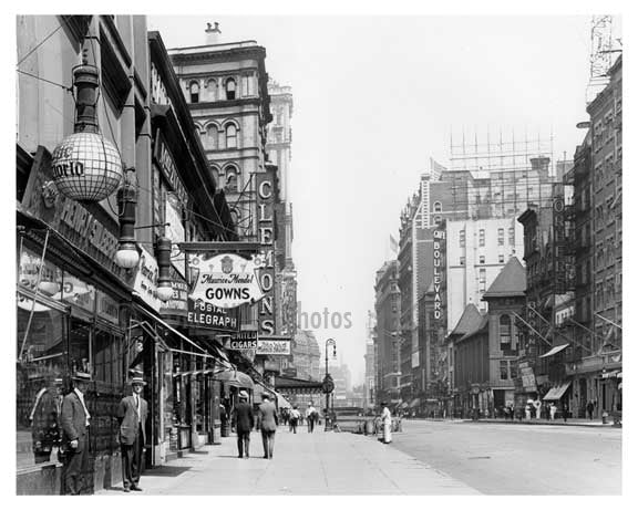 Northwest corner of 38th Street & Broadway - Midtown Manhattan - NY 1914 B Old Vintage Photos and Images
