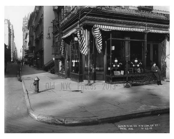 Northwest Corner of 59th Street & Park Avenue -  Midtown Manhattan 1914 A Old Vintage Photos and Images