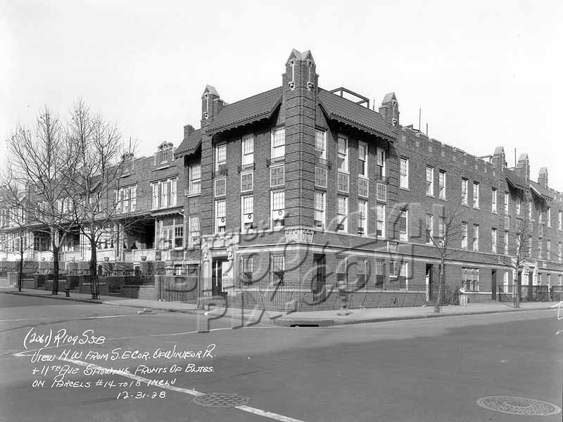 Northwest corner Windsor Place and 11th Avenue, 1928 Old Vintage Photos and Images