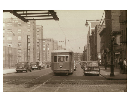 Nostrand Ave & Myrtle Ave 1950 Bedford-Stuyvesant Brooklyn NY Old Vintage Photos and Images