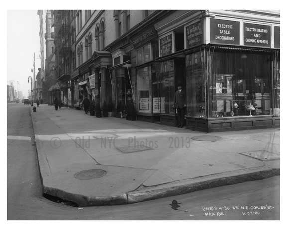 Nothwest Corner of 59th Street & Madison Avenue -  Midtown Manhattan 1914 B Old Vintage Photos and Images