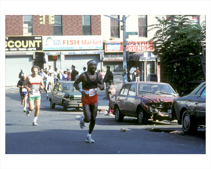 NY Marathon Fulton St - Bedford-Stuyvesant Old Vintage Photos and Images