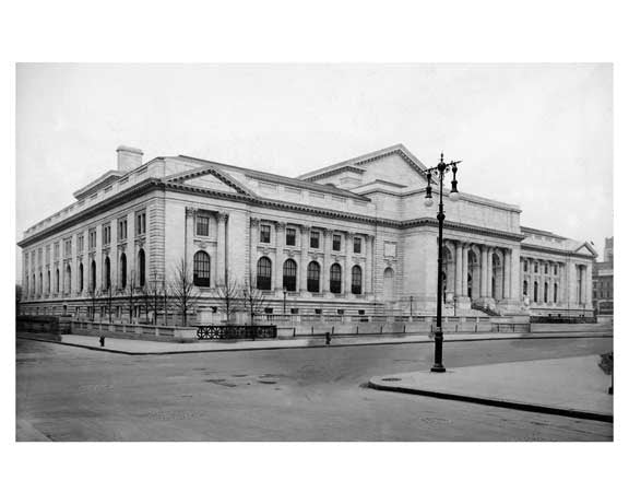 NY Public Library Midtown Manhattan - NYC Old Vintage Photos and Images
