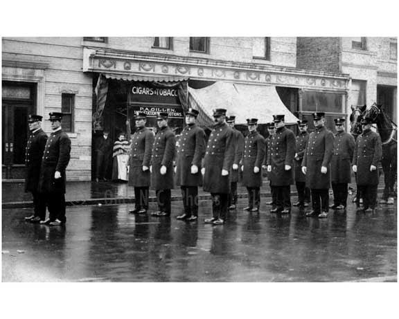 NYPD parade formation 1920's - Brooklyn NY Old Vintage Photos and Images