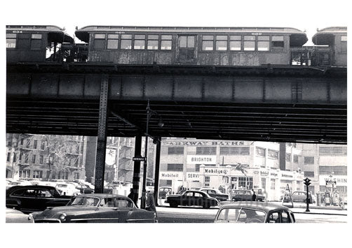 Ocean Parkway & Brighton 1st St. 1956 Old Vintage Photos and Images