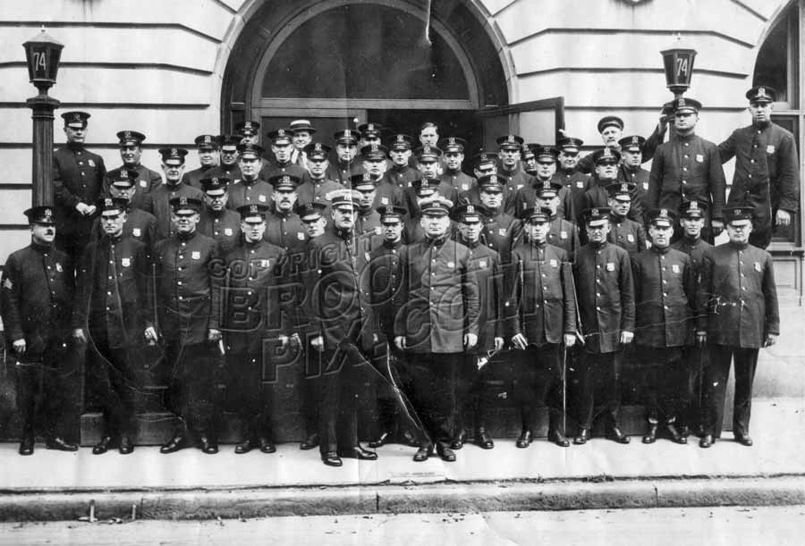 Officers of the 74th Precinct, 154 Lawrence Avenue, Parkville, c.1925 Old Vintage Photos and Images