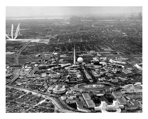Opening Day - aerial view of the Worlds Fair 1939 - Flushing - Queens - NYC Old Vintage Photos and Images