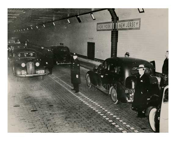 Opening of the Lincoln Tunnel 1937 Midtown Manhattan NYC Old Vintage Photos and Images