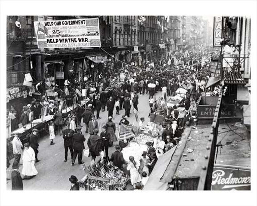 Orchard Street  - Lower East Side - Downtown Manhattan 1943 NYC Old Vintage Photos and Images