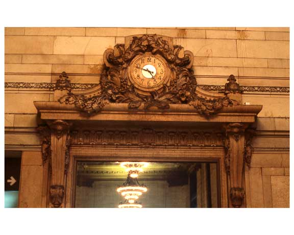 Ornate Clock Inside of Grand Central Station 1988 Old Vintage Photos and Images